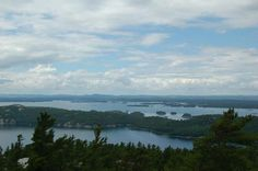 The view of Frazer Bay after hiking from Mary Ann Cove anchorage. North Channel Ontario Canada.
