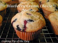 Cooking Tip of the Day: Blueberry Cream Cheese Muffins
