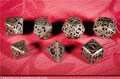 Metal hollowed dices !