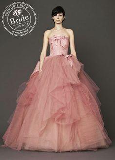 Vera Wang : Nora, Fall 2014 pink wedding dress!