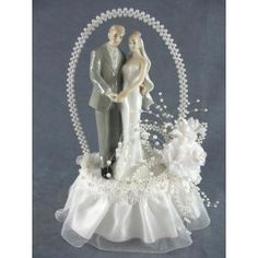 Love The Traditional Topper Elegance Pearl Arch Wedding Cake Toppers