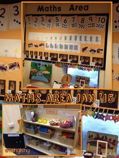My maths area Jan 2015 Maths Eyfs, Classroom Layout, Classroom Organisation, Preschool Math, Preschool Classroom, Math Activities, Numeracy, Reggio Classroom, Classroom Design