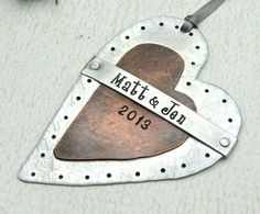 Personalized Ornament  Hand Stamped Mixed by FiredUpLadiesHammer, $29.00