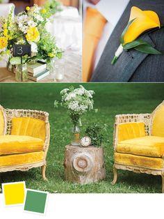 Amarillo canario y verde pera, como colores para tu boda. #ColoresBodas