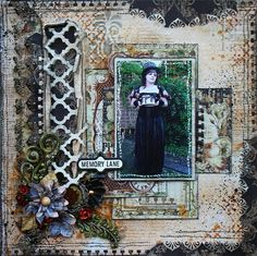 Scraps of Elegance: Timeless Kit - layout by Patricia Basson