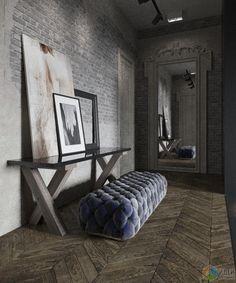 Дизайн квартиры в стиле лофт, брутальный интерьер