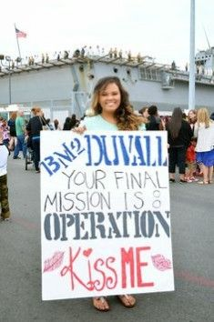 operation kiss me welcome home sign