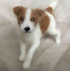 Here is a needle felted Jack Russell Terrier. A wool sculpture of your dog is a fun item, would make a great gift for the dog lover, and is a Needle Felted Animals, Felt Animals, Needle Felting, Cute Animals, Baby Animals, Custom Dog Portraits, Pet Portraits, Jack Russell Terriers, Felt Dogs