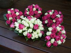 imagine, my bouquet with the fuschia pink roses, ivory roses, and stargazer lilies...my MOH with the pink and ivory roses....can't wait to see them :)