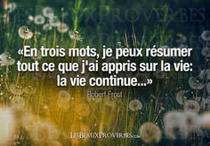 Life Quote: La vie continue