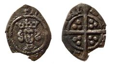 As the name suggests, and English halfpenny was worth half a silver penny. These were minted during the reign of Henry IV.