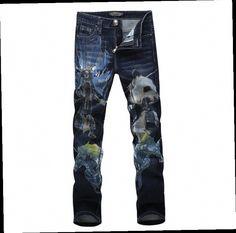 49.00$  Buy now - http://alib5u.worldwells.pw/go.php?t=32435777594 - 2015 Plus size 28-38 summer mens pants trend panda Slim influx men denim jeans pants tide small straight printing singer wear 49.00$