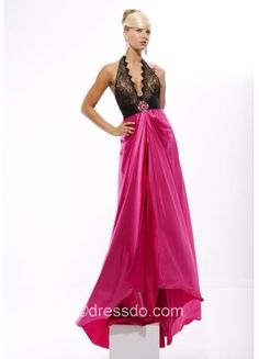 Sexy Empire A-line Floor-length Draped Satin Prom Dress with beading