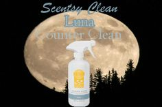 Scentsy's Luna Counter Clean is a multipurpose spray that cleans while forming a clear, dirt-repelling barrier on sealed surfaces that gets stronger with regular use. 16 fl. oz. White florals — jasmine, sweet pea, and freesia — juicy berries, and sandalwood shimmer like moonlight. https://cuanam50.scentsy.us/shop/p/33016/luna-counter-clean