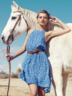 Horse in Fashion with Bregje Heinen by Christopher Shintani for Revolve Clothing, spring 2013 lookbook