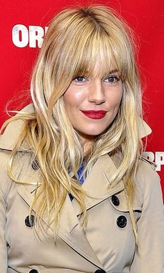 Get Sienna Millers gorgeous full head of blonde hair with our tape in hair extensions - blondes can be mixed to get this exact look