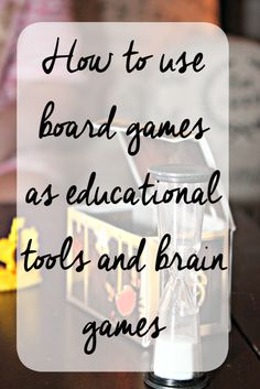How to use board games as educational tools & brain games (Plus giveaway!