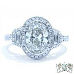 Blount Jewels 2.53 Cttw Oval Diamond Engagement Ring In 18k White Gold