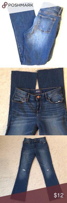 NWOT girls old navy jeans Old navy jeans, modern worn knee, boot cut, waist adjustment elastic Old Navy Bottoms Jeans