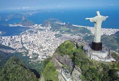 Cristo Redentor - Christ the Redeemer Oh The Places You'll Go, Great Places, Places To Travel, Beautiful Places, Places To Visit, Vacation Destinations, Dream Vacations, Vacation Spots, Vacation Travel