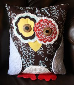 This whimsical little owl will be a fun, colorful addition to any room. Its multiple patterns and textures add an artsy flare
