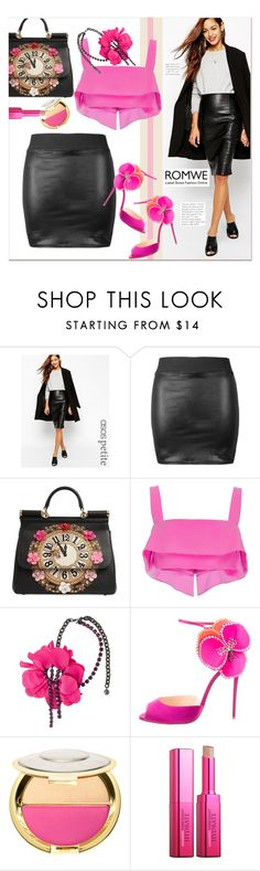 """Black Leather Skirt"" by pavicmartina ❤ liked on Polyvore featuring ASOS, Dolce&Gabbana, Cushnie Et Ochs, Lanvin, Christian Louboutin, Sephora Collection and Amazing Cosmetics"