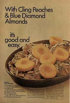 Cling Peaches and Blue Diamond Almonds