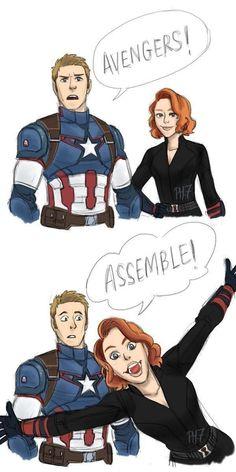 Captain America (MCU) - Steve Rogers x Natasha Romanoff - Captasha Marvel Avengers, Hero Marvel, Funny Marvel Memes, Marvel Jokes, Dc Memes, Marvel Dc Comics, Marvel Films, Marvel Cinematic, Captain Marvel