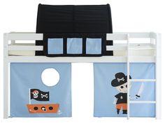 Spielbett Weiß mit Gerader Leiter, Vorhang, Betttasche, Tunnel Flexa Basic HIT, inkl. Piraten Vorhang, Betttaschen und Tunnel Jetzt bestellen unter: https://moebel.ladendirekt.de/kinderzimmer/betten/kinderbetten/?uid=1eb00231-89da-5350-a485-c6615c56db69&utm_source=pinterest&utm_medium=pin&utm_campaign=boards #kinderzimmer #flexa #kinderbetten #halbhohes #betten #basic #bett #spielbett