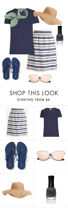 Casual Summer Fashion For Women Over 40 by creativecaincabin on Polyvore featuring James Perse, J.Crew, Old Navy, Manipuri and Charlotte Russe