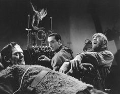 Boris Karloff, Basil Rathbone and Bela Lugosi - Son of Frankenstein (1939)