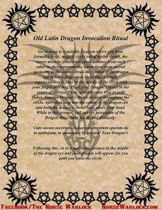 Crone Cronicles: Old Latin Dragon Invocation Ritual