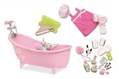 Slipper Tub with Beauty Product Set | Our Generation Dolls