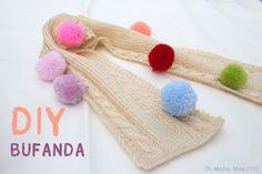 DIY Como hacer bufanda de niño o niña (patrón gratis)