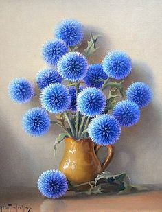 "still life by Robert Chailloux - ""Echinops"""