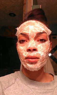 1 egg white. 1 teaspoon lemon juice. 1 teaspoon honey. Mix all together and apply evenly to face. Then use tissue or toilet paper to cover your face. With ur left over mixture, cover the paper on ur face. Let sit until it hardens then peel off. Leaves face smooth. Lemon lightens blemishes and cleans skin. Honey reduces wrinkles, tightens and moisturizes skin. Egg whites dry out oils and tightens skin. REPIN FOR LATER!!