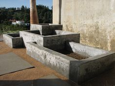 Concrete Planter designed by Ernsdorf Design...where my vegetable garden will be....