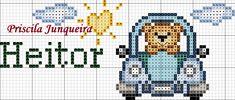 Priscila Junqueira Ponto Cruz Cross Stitch Baby, Cross Stitch Patterns, C2c, Pixel Art, Alphabet, Knitting, Quilling, Fictional Characters, Easy Cross Stitch Patterns