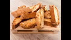 Come fare i Cantucci #videoricetta Biscotti, Bread, Food, Breads, Bakeries, Meals, Biscuits