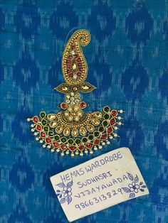 This Pin was discovered by Mad Aari Embroidery, Embroidery Fashion, Hand Embroidery Designs, Embroidery Patterns, Embroidery Stitches, Bridal Blouse Designs, Saree Blouse Designs, Hand Work Design, Maggam Work Designs
