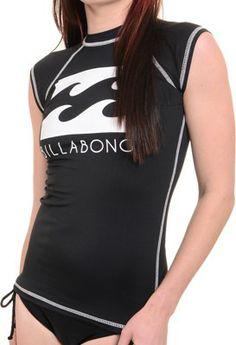 Billabong Atlantica S/S Women's Rash Guard - black - Surf Shop > Women's Surf > Women's Wetsuits > Women's Rash Guards