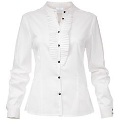 White Blouse ($140) ❤ liked on Polyvore featuring tops, blouses, collar blouse, collar top, long sleeve tops, tailoring blouse and white button blouse