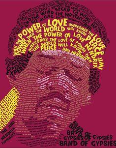Jimi Hendrix Typography Poster