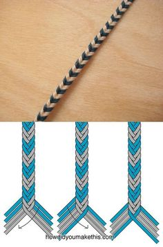 Bracelets - Fishtail Braid - Version 2 - How did you do it? - Suzy's fashion - Tendance Bracelets – Fishtail Braid – Version 2 – How did you do it? – -Tendance Bracelets - Fishtail Braid - Version 2 - How did you do it? Diy Friendship Bracelets Patterns, Diy Bracelets Easy, Bracelet Crafts, Braided Bracelets, Jewelry Crafts, Fishtail Bracelet, Bracelet Box, Hemp Bracelet Patterns, Diy Bracelets With String