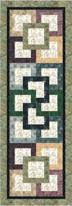 Garden Path Bed Runner Pattern Would make a nice table runner also!