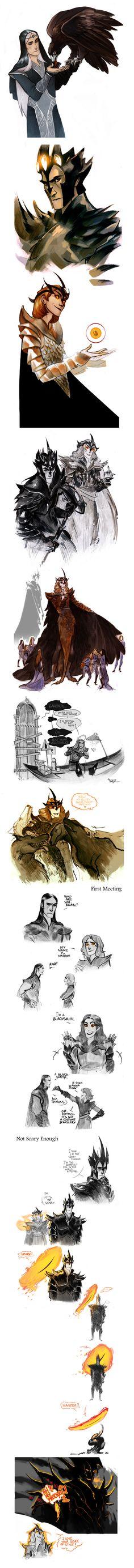 Silmarillion sketchdump by Phobs.deviantart.com HAHAHAHAHA Earendil XD XD XD