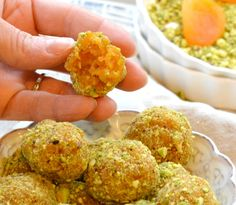 An healthy morning tea treat Apricot pistachio bliss balls. (want to try with peaches or mango too) www.sweetashoney.co.nz