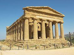Valle dei Templi Concordia temple Doric style Greek