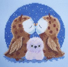 KL98 True Love Owls Counted Cross Stitch by allaboutcrossstitch