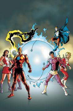 Doom Patrol & Legion of Super Heroes by Jesus Saiz